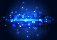 Begrepp för digital teknologi för vektorillustration högteknologiskt, abstrakt bakgrund Royaltyfria Bilder
