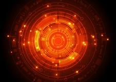 Begrepp för digital teknologi för vektorillustration högteknologiskt, abstrakt bakgrund Royaltyfria Foton