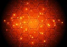 Begrepp för digital teknologi för vektorillustration högteknologiskt, abstrakt bakgrund Arkivbilder