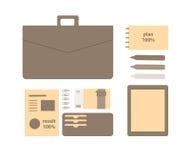Begreppsmässig plan illustration av en affärsperson Fotografering för Bildbyråer