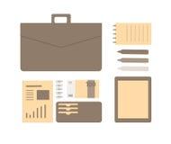 Begreppsmässig plan illustration av en affärsperson Royaltyfri Bild
