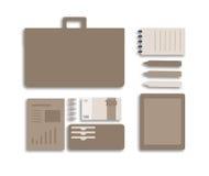 Begreppsmässig plan illustration av en affärsperson Royaltyfri Fotografi