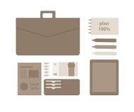 Begreppsmässig plan illustration av en affärsperson Arkivbild