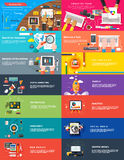Beheer digitale marketing srartup planningsseo Stock Foto's