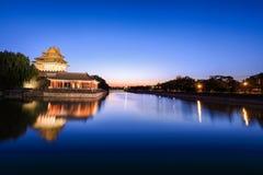 Beijing moat in nightfall Stock Images