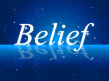 Believe Word Represents Belive In Yourself And Confidence Royalty Free Stock Image