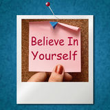 Believe In Yourself Photo Shows Self Belief Stock Photography