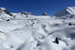 Belle Plagne, Winter landscape in the ski resort of La Plagne, France Stock Photography