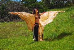 Belly dancer with wings Stock Photo