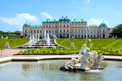 Belvedere Palace, Vienna Royalty Free Stock Photography