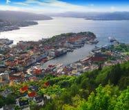 Bergen, Norway harbor Stock Images