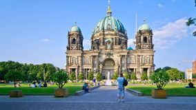 Berlin cathedral, germany stock video footage