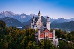 Beroemd Neuschwanstein-Kasteel in Beieren, Duitsland Stock Afbeelding