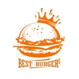 Best burgers graphic logo. Stock Photos