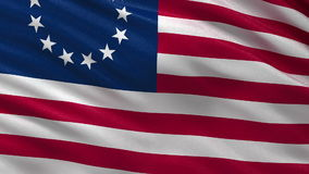 Betsy Ross flag - seamless loop stock video footage