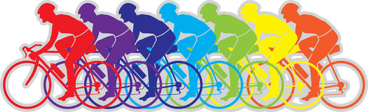 Bicycle Team Mix Color  Stock Image