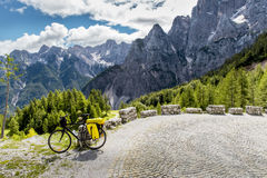 Bicycle tourism in Slovenia Royalty Free Stock Image