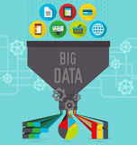 Big data chart Royalty Free Stock Photography