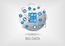 Big data digital analytics dashboard  illustration. Royalty Free Stock Photography