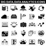 Big data icons Stock Photography