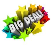 Big Deal Words Stars Fireworks Important News Sale
