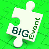Big Event Puzzle Shows Celebration Occasion And Performance Stock Photo