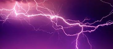 Big lightning on the sky Stock Image