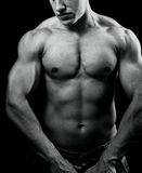 Big muscular sexy man with powerful body Stock Photo