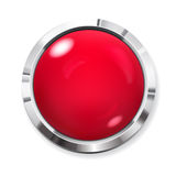 Big red button Royalty Free Stock Photography