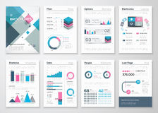 Big set of business brochures and infographic vector elements Royalty Free Stock Photo