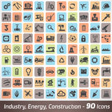 Big set of industry, engineering and construction icons Royalty Free Stock Image