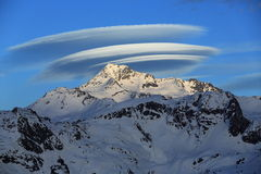 Big UFO, summit Bellecote, La Plagne, France Stock Photo