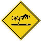 Bike crash sign (AI format available) Stock Photos