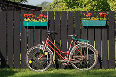 Bike and fence Royalty Free Stock Images
