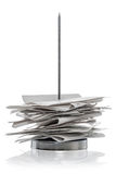 Bill Receipt spike isolated on a white Royalty Free Stock Image
