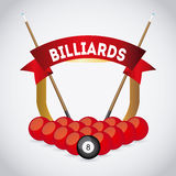 Billiard play design Stock Photography
