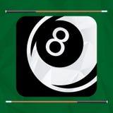 Billiard play design Royalty Free Stock Photography