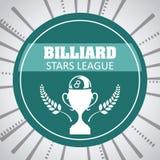 Billiard play design Stock Photo