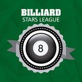 Billiard play design Royalty Free Stock Photos