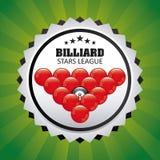 Billiard play design Royalty Free Stock Photo