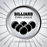 Billiard play design Stock Images