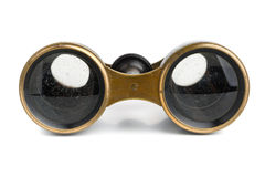 binoculars isolated vintage Arkivbilder