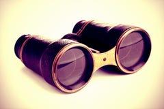 binoculars isolated vintage Royaltyfri Foto