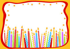 Birthday Card With Candles Royalty Free Stock Images