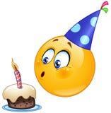 Birthday emoticon Stock Photography