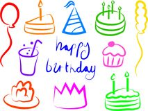 Birthday Icons Stock Image