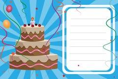 Birthday invitation card - boy Royalty Free Stock Photography