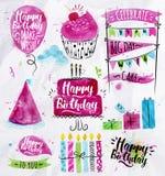 Birthday Set Stock Photography