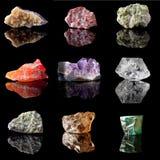 Birthstones and semi precious gemstones Royalty Free Stock Photography