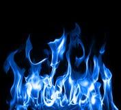 blåa flammor Arkivbilder